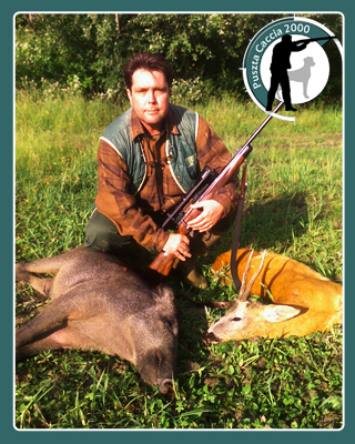 Roe buck and wild boar hunting